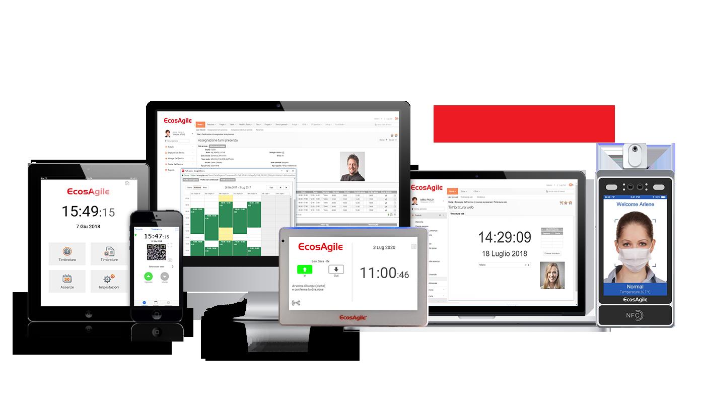EcosAgile rilevazione presenze software app timbratura